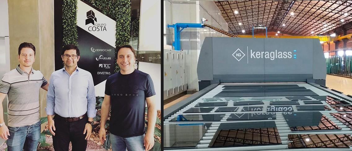 Keraglass installa con grande successo il quarto forno di tempra a Vidriocar (Paraguay)