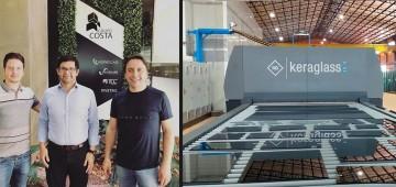 Keraglass instala con gran éxito el cuarto horno de templado en Vidriocar (Paraguay)